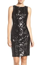 Adrianna Papell Women's Sequin Front Sheath Dress