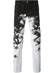 Dsquared2 'Clement' Jeans With Crow Print White
