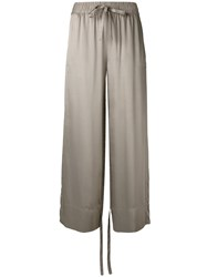 Sharon Wauchob Drawstring Trousers Women Silk 38 Nude Neutrals