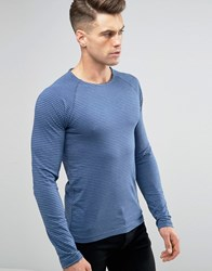 Blend Of America Microstripe Long Sleeve Top Ensign Blue Ensign Blue