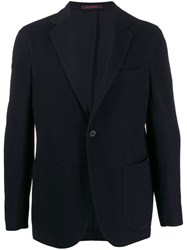 The Gigi Single Breasted Fitted Blazer Blue