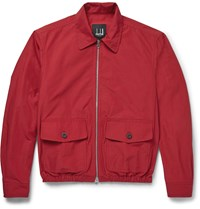 Dunhill Cotton Blend Harrington Jacket Red