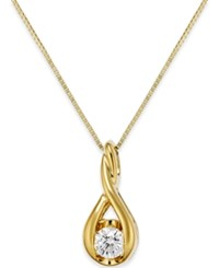 Sirena Diamond Twist Pendant Necklace In 14K Gold Or White Gold 1 5 Ct. T.W. Yellow Gold