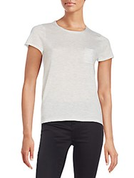 Saks Fifth Avenue Black Cashmere Blend Pocket Tee Black