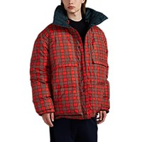 Vetements Reversible Oversized Plaid Puffer Coat Multi