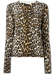 Equipment Leopard Print Sweater Brown