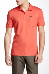 Faconnable Club Fit Short Sleeve Polo Red