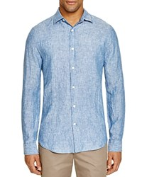The Men's Store At Bloomingdale's Linen Chambray Shirt Dark Blue