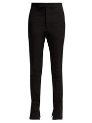 Helmut Lang Rider Slim Leg Cotton Blend Trousers Black