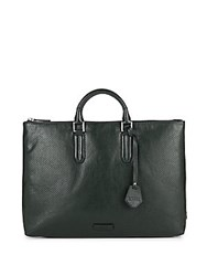 Uri Minkoff Devin Perforated Leather Tote Deep Forest