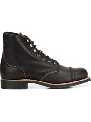Red Wing Shoes Lace Up Boots Black