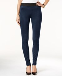 Inc International Concepts Faux Suede Skinny Leggings Only At Macy's Deep Twilight