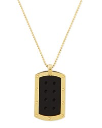 Men's Pois Moi 18K Yellow Gold Dogtag Necklace Roberto Coin Red