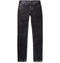 Lanvin Slim Fit Striped Bleached Denim Jeans Indigo