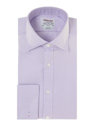 T.M.Lewin Plain Classic Fit Long Sleeve Shirt Lilac