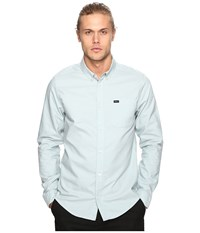 Rvca That'll Do Oxford Long Sleeve Cosmos Men's Long Sleeve Button Up Blue