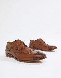 Kg By Kurt Geiger Brogues In Tan Leather