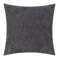 Amara Hand Appliqued Cotton Pillow 50X50cm Gray