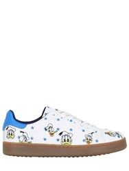 Moa Master Of Arts Donald Duck Embroidered Leather Sneakers