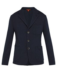 Barena Venezia Toreco Single Breasted Jersey Blazer Navy