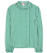 Shrimps Guinivere Checked Top Green