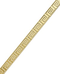 Giani Bernini Greek Key Bracelet In 24K Gold Over Sterling Silver