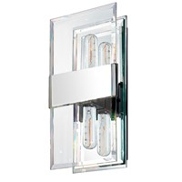 Sonneman Mercer Street Double Sconce Polished Chrome