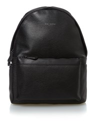 Ted Baker Woven Leather Backpack Black