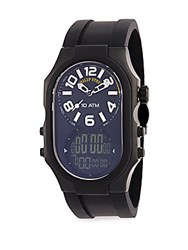 Philip Stein Teslar Analog Digital Watch Black