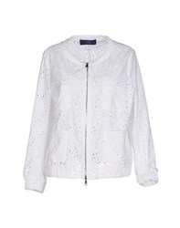 Blue Les Copains Coats And Jackets Jackets Women White