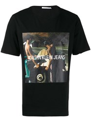 Calvin Klein Jeans Photo Print T Shirt Black