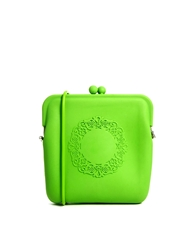 Liquorish Soft Rubber Cross Body Bag Neongreen