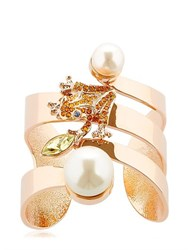 Mawi Frog Cuff Bracelet With Imitation Pearls