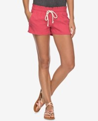 Roxy Juniors' Oceanside Shorts Holly Berry