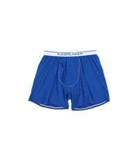 Icebreaker Anatomica Relaxed Boxers W Fly Awesome White Men's Underwear Blue
