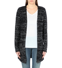 Enza Costa Long Knitted Cardigan Black Nebula