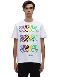 Guess Cali Cycling Printed Graphic T Shirt White