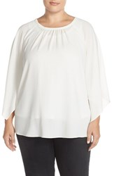 Plus Size Women's Vince Camuto Kimono Sleeve Blouse New Ivory
