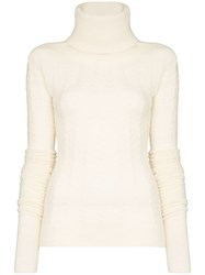 Jacquemus Long Sleeve Knitted Jumper White