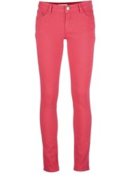 Red Valentino Skinny Fit Jeans Pink Purple