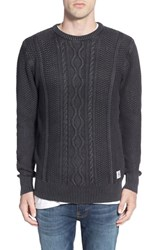 Men's Bellfield Cable Knit Cotton Crewneck Sweater