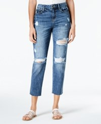American Rag Juniors' Ripped Cropped Girlfriend Jeans Annabelle