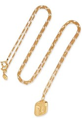Maria Black Friend Gold Plated Necklace One Size