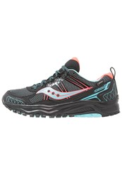 Saucony Excursion Tr 10 Gtx Trail Running Shoes Black Coral Blue