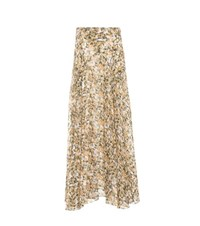 Isabel Marant Ferone Floral Printed Maxi Skirt Yellow