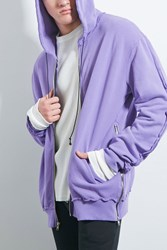 Forever 21 Private Academy Zip Hoodie Purple
