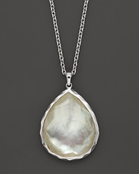 Ippolita Sterling Silver Wonderland Large Teardrop Pendant Necklace In Mother Of Pearl 16 No Color
