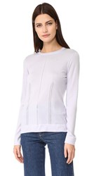 Salvatore Ferragamo Pointelle Crew Neck Sweater Lavender