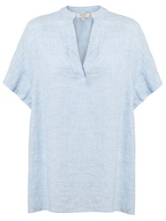 East Linen Marilyn Top Chambray