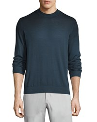 Theory Remsey Castelle Faded Crewneck Sweater Navy Women's